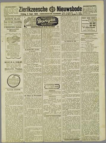 Zierikzeesche Nieuwsbode 1924-09-05