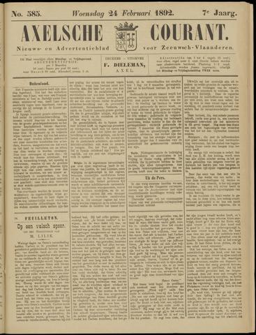 Axelsche Courant 1892-02-24