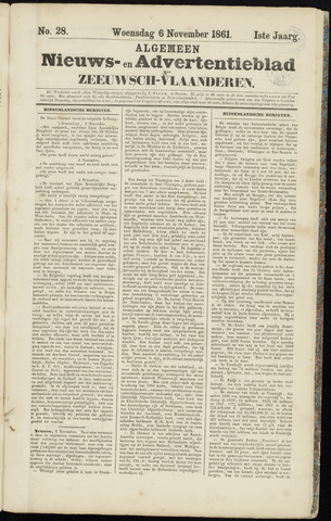 Ter Neuzensche Courant. Algemeen Nieuws- en Advertentieblad voor Zeeuwsch-Vlaanderen / Neuzensche Courant ... (idem) / (Algemeen) nieuws en advertentieblad voor Zeeuwsch-Vlaanderen 1861-11-06