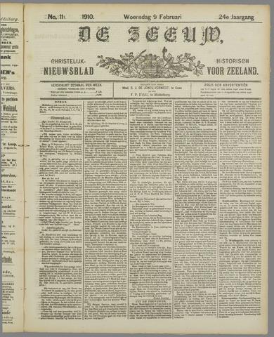 De Zeeuw. Christelijk-historisch nieuwsblad voor Zeeland 1910-02-09