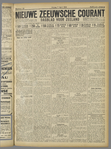 Nieuwe Zeeuwsche Courant 1922-04-07