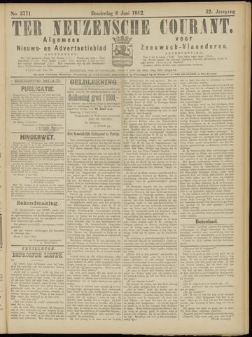 Ter Neuzensche Courant. Algemeen Nieuws- en Advertentieblad voor Zeeuwsch-Vlaanderen / Neuzensche Courant ... (idem) / (Algemeen) nieuws en advertentieblad voor Zeeuwsch-Vlaanderen 1912-06-06
