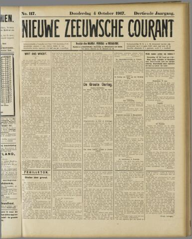 Nieuwe Zeeuwsche Courant 1917-10-04