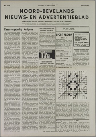 Noord-Bevelands Nieuws- en advertentieblad 1986-02-13