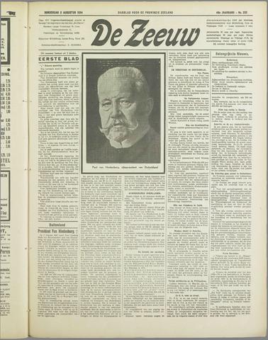De Zeeuw. Christelijk-historisch nieuwsblad voor Zeeland 1934-08-02