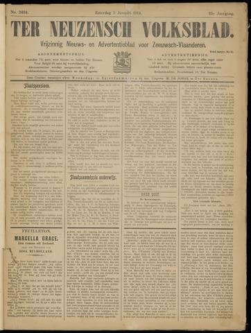 Ter Neuzensch Volksblad. Vrijzinnig nieuws- en advertentieblad voor Zeeuwsch- Vlaanderen / Zeeuwsch Nieuwsblad. Nieuws- en advertentieblad voor Zeeland 1914