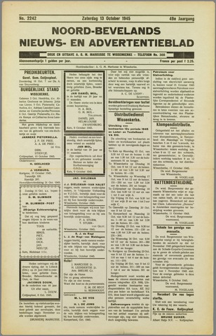 Noord-Bevelands Nieuws- en advertentieblad 1945-10-13