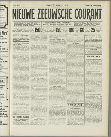 Nieuwe Zeeuwsche Courant 1916-10-31