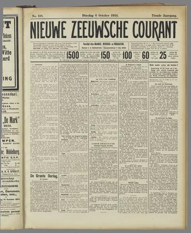 Nieuwe Zeeuwsche Courant 1914-10-06