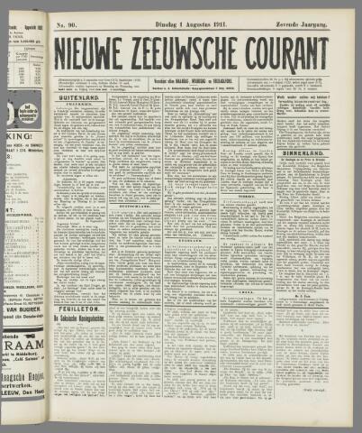 Nieuwe Zeeuwsche Courant 1911-08-01