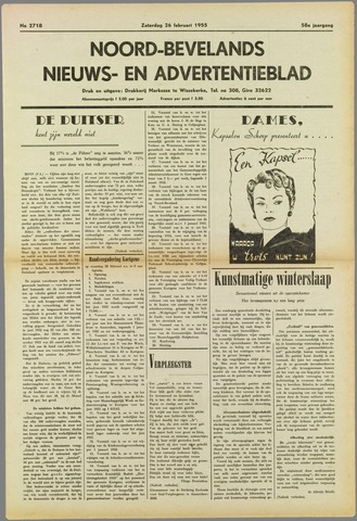 Noord-Bevelands Nieuws- en advertentieblad 1955-02-26