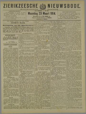 Zierikzeesche Nieuwsbode 1914-03-23