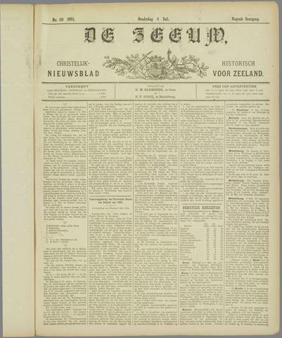 De Zeeuw. Christelijk-historisch nieuwsblad voor Zeeland 1895-07-04