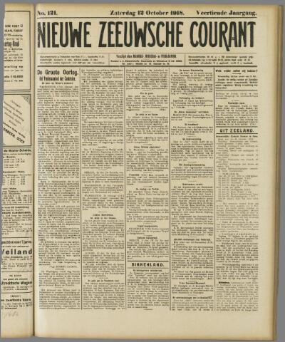 Nieuwe Zeeuwsche Courant 1918-10-12