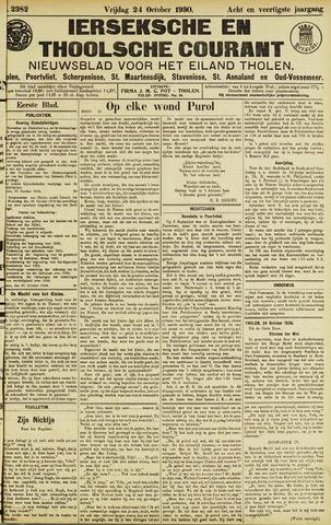Ierseksche en Thoolsche Courant 1930-10-24