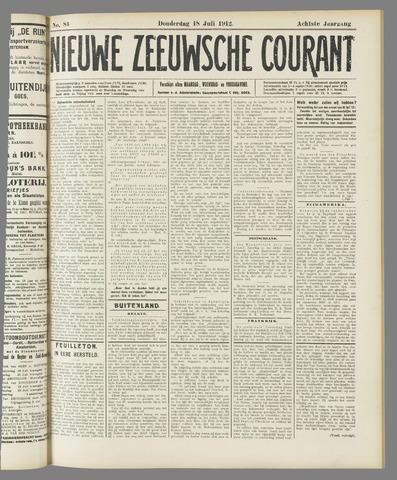 Nieuwe Zeeuwsche Courant 1912-07-18