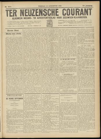 Ter Neuzensche Courant. Algemeen Nieuws- en Advertentieblad voor Zeeuwsch-Vlaanderen / Neuzensche Courant ... (idem) / (Algemeen) nieuws en advertentieblad voor Zeeuwsch-Vlaanderen 1932-08-12