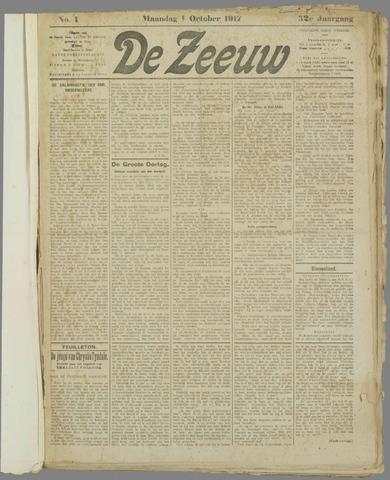 De Zeeuw. Christelijk-historisch nieuwsblad voor Zeeland 1917-10-01