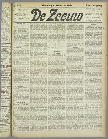 De Zeeuw. Christelijk-historisch nieuwsblad voor Zeeland 1921-08-01