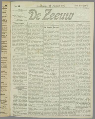 De Zeeuw. Christelijk-historisch nieuwsblad voor Zeeland 1917-01-25