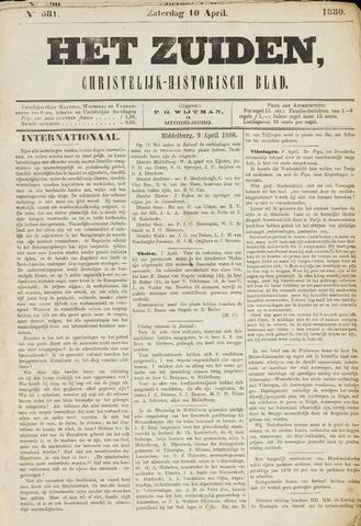 Het Zuiden, Christelijk-historisch blad 1880-04-08