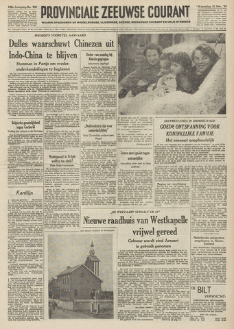 Provinciale Zeeuwse Courant 1953-12-30
