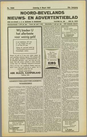 Noord-Bevelands Nieuws- en advertentieblad 1952-03-08