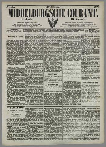 Middelburgsche Courant 1891-08-13