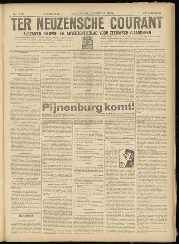 Ter Neuzensche Courant. Algemeen Nieuws- en Advertentieblad voor Zeeuwsch-Vlaanderen / Neuzensche Courant ... (idem) / (Algemeen) nieuws en advertentieblad voor Zeeuwsch-Vlaanderen 1934-08-10