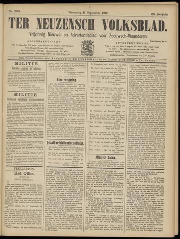 Ter Neuzensch Volksblad. Vrijzinnig nieuws- en advertentieblad voor Zeeuwsch- Vlaanderen / Zeeuwsch Nieuwsblad. Nieuws- en advertentieblad voor Zeeland 1912-09-11