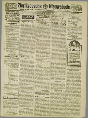 Zierikzeesche Nieuwsbode 1924-12-19