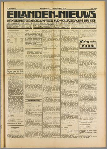 Eilanden-nieuws. Christelijk streekblad op gereformeerde grondslag 1935-02-13