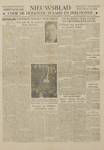 Watersnood documentatie 1953 - kranten 1953-03-16