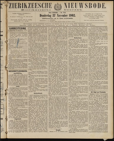 Zierikzeesche Nieuwsbode 1902-11-27