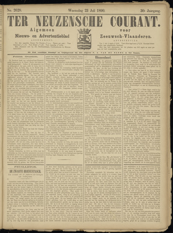 Ter Neuzensche Courant. Algemeen Nieuws- en Advertentieblad voor Zeeuwsch-Vlaanderen / Neuzensche Courant ... (idem) / (Algemeen) nieuws en advertentieblad voor Zeeuwsch-Vlaanderen 1890-07-23