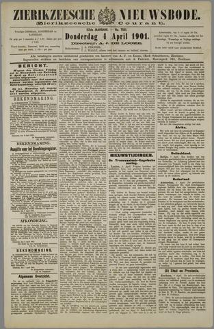 Zierikzeesche Nieuwsbode 1901-04-04