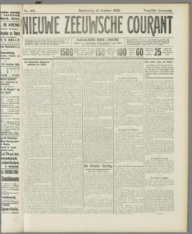 Nieuwe Zeeuwsche Courant 1916-10-12