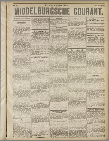 Middelburgsche Courant 1922-04-07