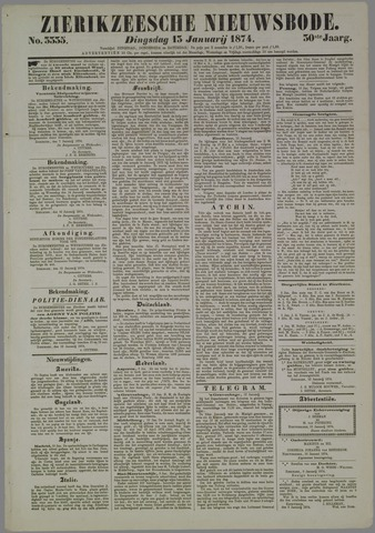 Zierikzeesche Nieuwsbode 1874-01-13