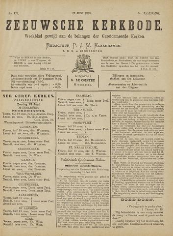Zeeuwsche kerkbode, weekblad gewijd aan de belangen der gereformeerde kerken/ Zeeuwsch kerkblad 1889-06-22