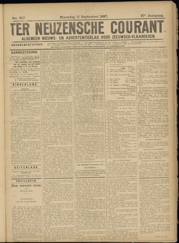 Ter Neuzensche Courant. Algemeen Nieuws- en Advertentieblad voor Zeeuwsch-Vlaanderen / Neuzensche Courant ... (idem) / (Algemeen) nieuws en advertentieblad voor Zeeuwsch-Vlaanderen 1927-09-12