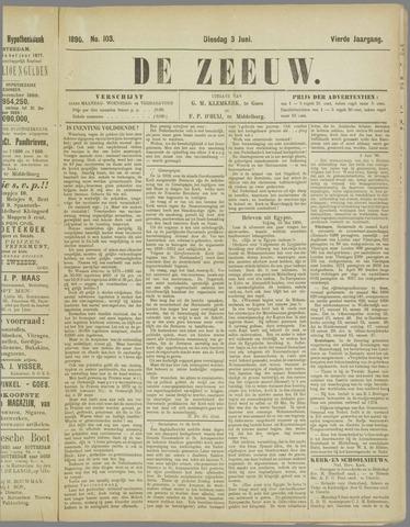 De Zeeuw. Christelijk-historisch nieuwsblad voor Zeeland 1890-06-03