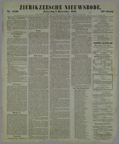 Zierikzeesche Nieuwsbode 1881-12-03
