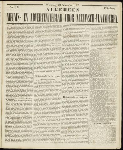Ter Neuzensche Courant. Algemeen Nieuws- en Advertentieblad voor Zeeuwsch-Vlaanderen / Neuzensche Courant ... (idem) / (Algemeen) nieuws en advertentieblad voor Zeeuwsch-Vlaanderen 1872-11-20