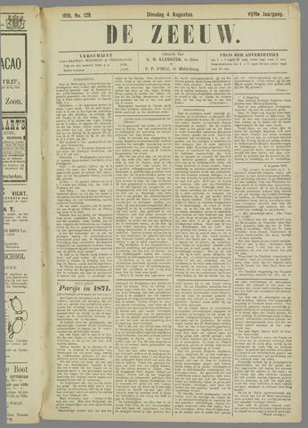 De Zeeuw. Christelijk-historisch nieuwsblad voor Zeeland 1891-08-04