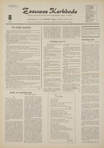 Zeeuwsche kerkbode, weekblad gewijd aan de belangen der gereformeerde kerken/ Zeeuwsch kerkblad 1970-10-29