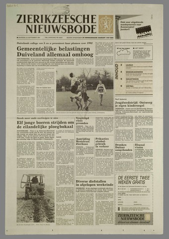 Zierikzeesche Nieuwsbode 1991-09-23