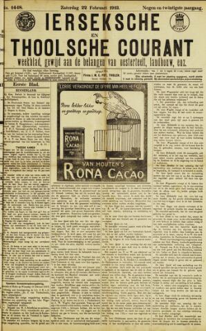 Ierseksche en Thoolsche Courant 1913-02-22