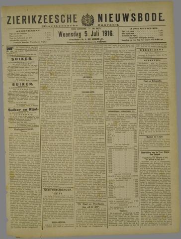Zierikzeesche Nieuwsbode 1916-07-05