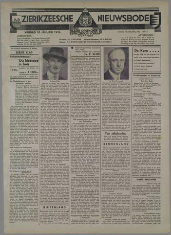 Zierikzeesche Nieuwsbode 1936-01-10
